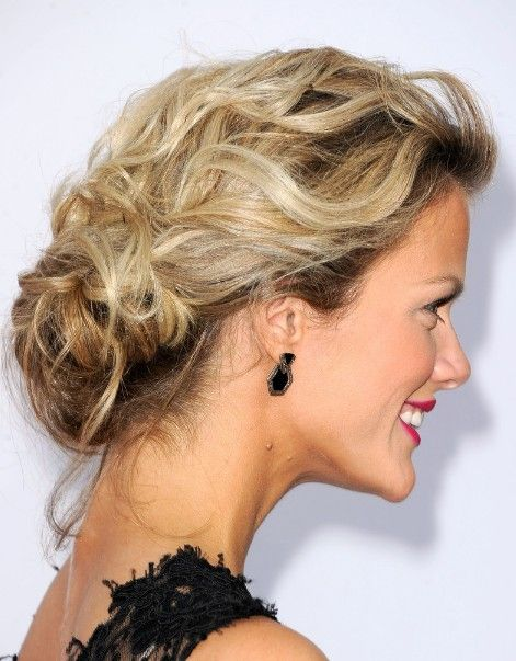 Best Low Loose Bun Updo  – Side View of the Low Loose Bun Updo | Hairstyles Weekly