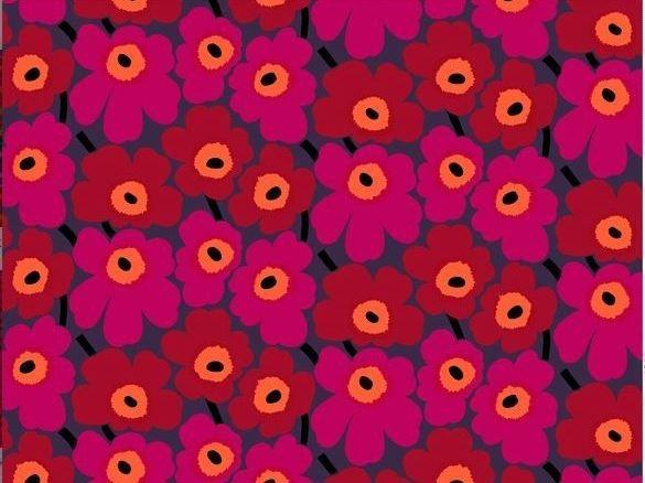 Tessuto stampato in cotone con motivi floreali PIENI UNIKKO 2 Collezione Pieni Unikko by Marimekko