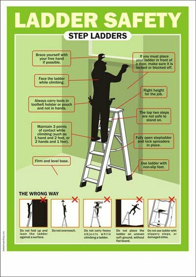 Best 25 workplace safety topics ideas on pinterest for Ladder safety tips