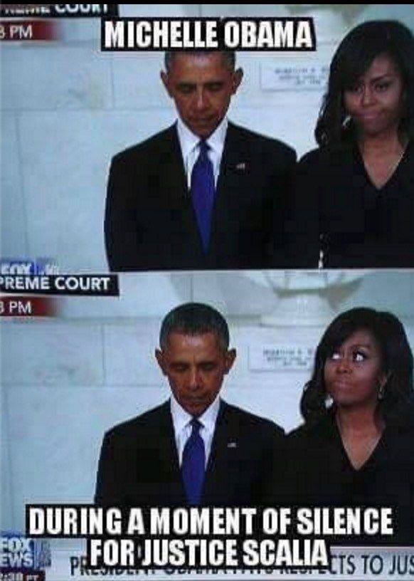 Look What Michelle Obama Did During Justice Scalia's Moment of Silence