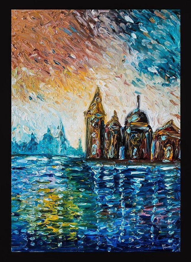 """GODS IN VENICE SKY"" oil on canvas 50x70cm  fingerpaint technique    www.faraonepainter.com    Ti piace e vuoi acquistarlo?   Do you like it? Buy it! ↓   https://www.etsy.com/it/listing/548585195/olio-su-telafinger-paintingvenicequadro?ref=shop_home_active_7"