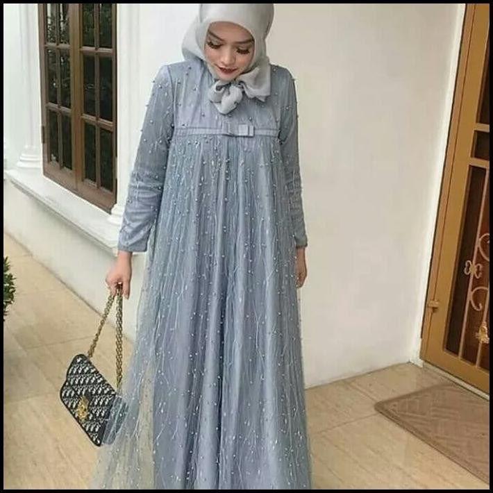 Model Baju Gamis Dari Bahan Tile Model Pakaian Muslim Model Pakaian Kain Tile