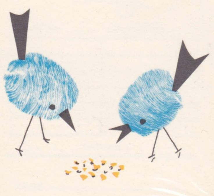 Fingerabdruck Vögel
