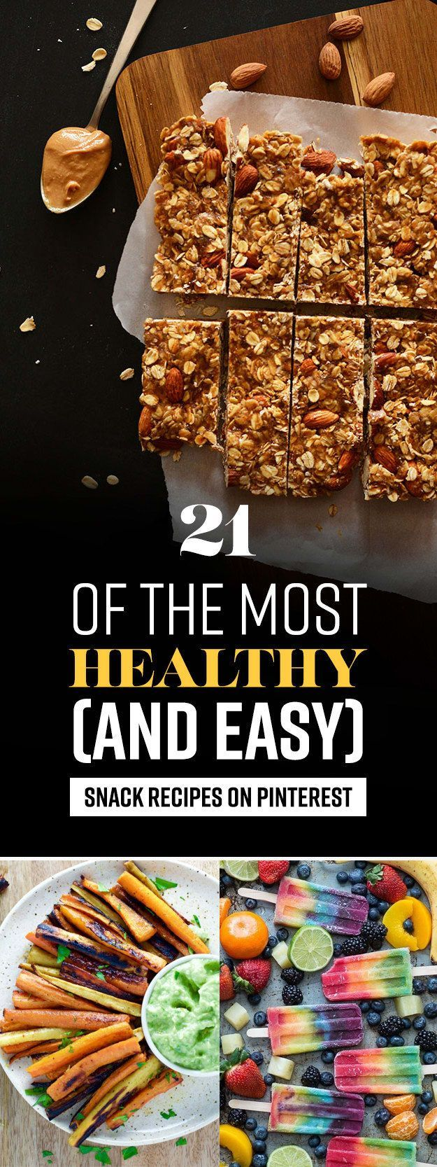 21 Of The Healthiest Summer Snack Recipes On Pinterest