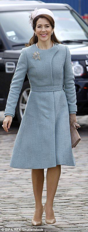 Crown Princess Mary of Denmark channeling Melania's inauguration day look