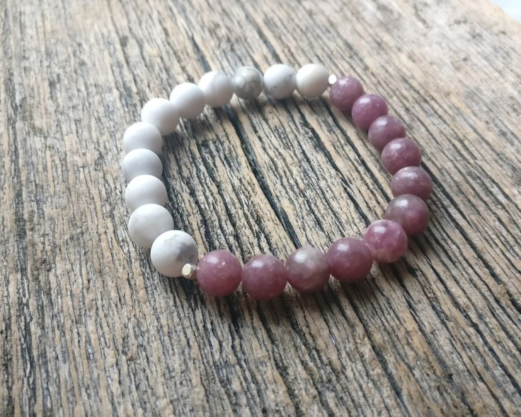 Anti-Anxiety bracelet ✨ Lepidolite + Howlite