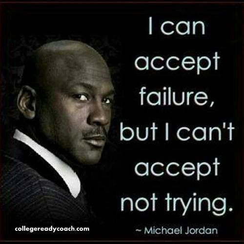 The starting point for success is to take a look at your mindset and your beliefs about your abilities. Don't be afraid to fail.Take the shots.