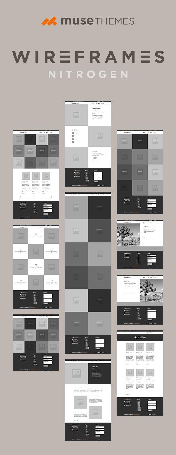 Nitrogen WireFrame es un marco de sitio web funcional de MuseThemes.com. Thes …   – Web Design