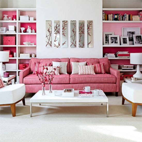 Pink Living Room Ideal Home Part 53