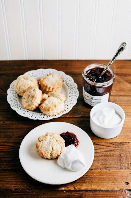 Hummingbird High: Sweet Cream Biscuits with Plum Jam and Earl Grey Whipped Cream  Great & easy recipe