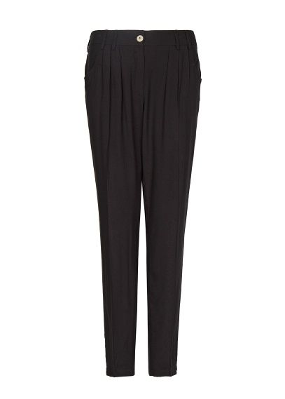 Work style...  MANGO - Pleated tapered trousers