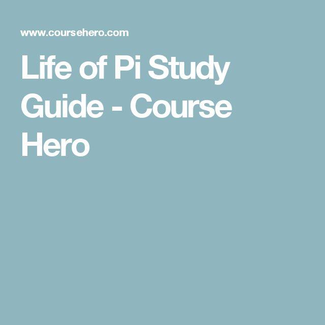 Life of Pi Study Guide - Course Hero