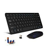 Bestdeal Wireless Ultra Schlank Mini QWERTY Keyboard Tastatur und Maus für Thomson 50UB6406 / 40UB6406 / 55UA8596 / 65UB6406 Smart TV