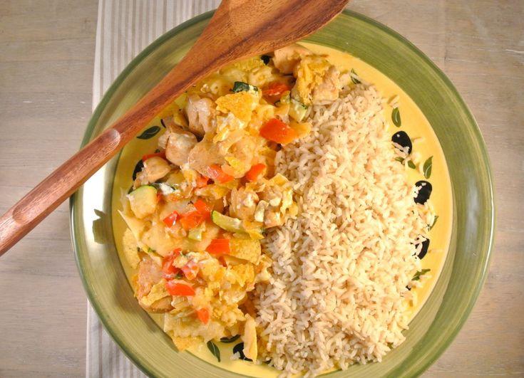 mexicaanse kip oven schotel (misschien maken voor mijn verjaardag), met nacho/bonen/kaas/guacamole etc in de oven vooraf).