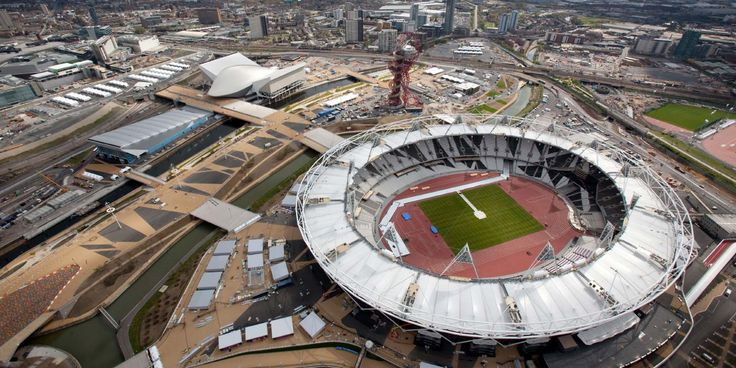 Olympic stadium stratford, aerial view