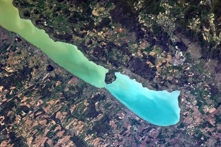 Lake Balaton, Hungary. A lovely vacation destination on the water with springs new growth visible all around.