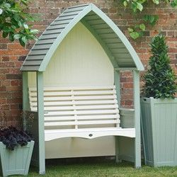 AFK Cottage 136cm Arbour - Timber Roof - Heritage Sage and Cream   Birstall