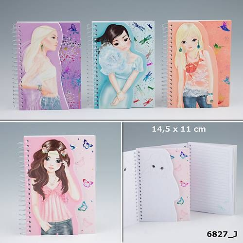 Top Model Spiral Notebooks - J - 4 Designs To Choose From - TOPModel by Depesche | eBay