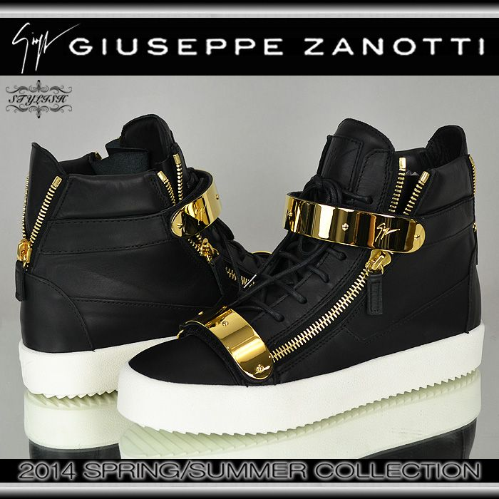 GIUSEPPE ZANOTTI DESIGN(ジュゼッペ ザノッティ)2014SSブラック ゴールドプレート ZIPスニーカーRDM430 BIREL NEROSAINT LAURENT PARIS GIVENCHY BALMAIN Rick Owens ルブタン OFF WHITEKTZ HBA HOOD BY AIR MARCELO BURLON PYREX VISION JIMMY CHOO【楽天市場】