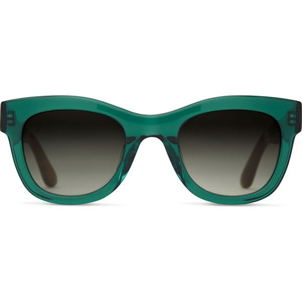 TOMS Chelsea Emerald Crystal Sunglasses with Olive Gradient Lens ($139) ❤ liked on Polyvore featuring accessories, eyewear, sunglasses, green, crystal sunglasses, toms sunglasses, crystal glasses, gradient tint sunglasses and toms eyewear