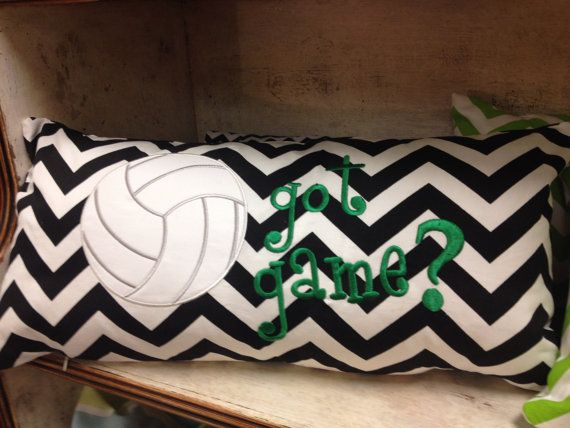 12x24 Volleyball Pillow by SewSwankyInteriors on Etsy, $45.00