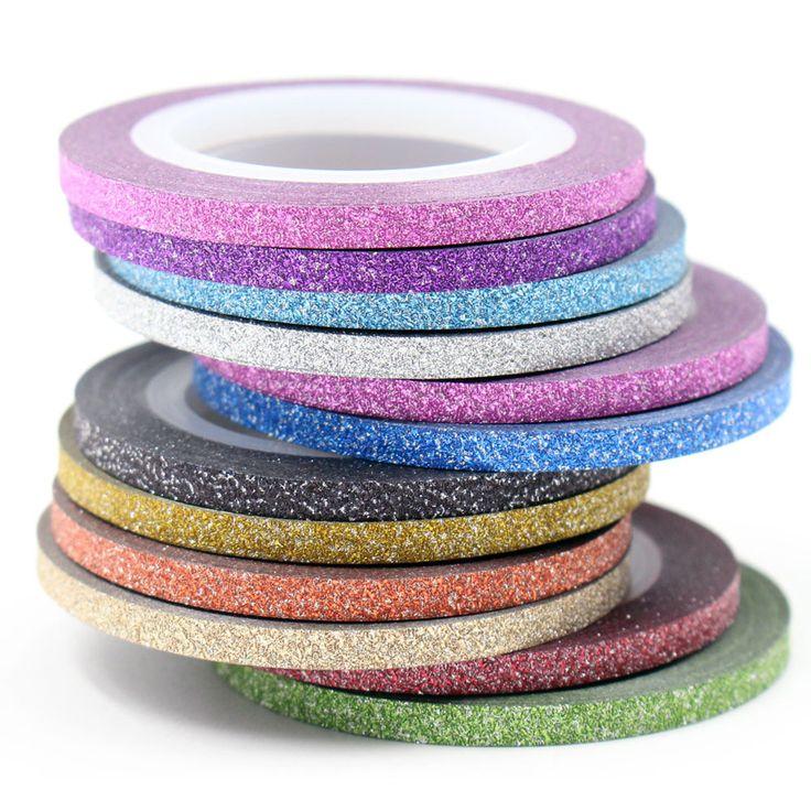 새로운 패션 매트 스티커 손톱 12 색 선택 네일 롤스 스트라이핑 테이프 라인 DIY 네일 아트 팁 장식 데칼