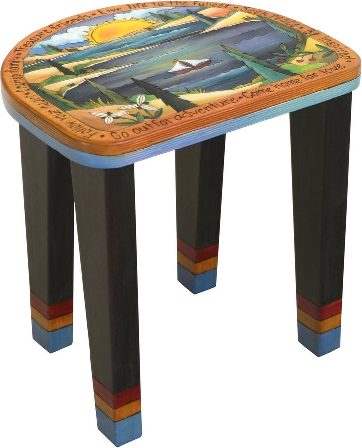 Sticks handmade short stool