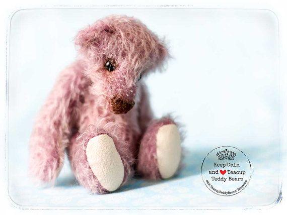 Teddy Bear VIOLET Artist OOAK Mohair Teddy by TeacupTeddyBears