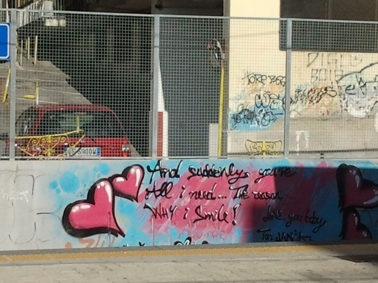 Naples train graffiti