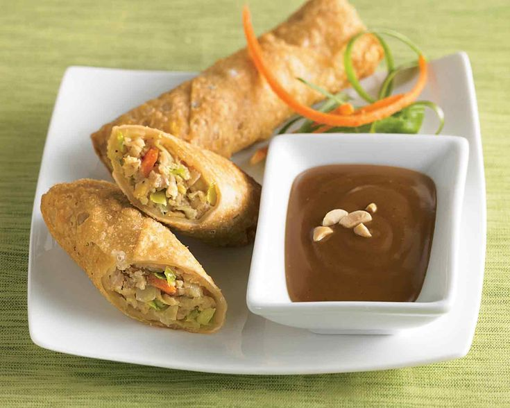 Chef Jet's Thai peanut dipping sauce is easy to prepare and is perfect for dipping our egg rolls in. With just a touch of spiciness this dip is a delicious complement to any appetizer and will add flavor to any Thai noodle dish or stir-fry.