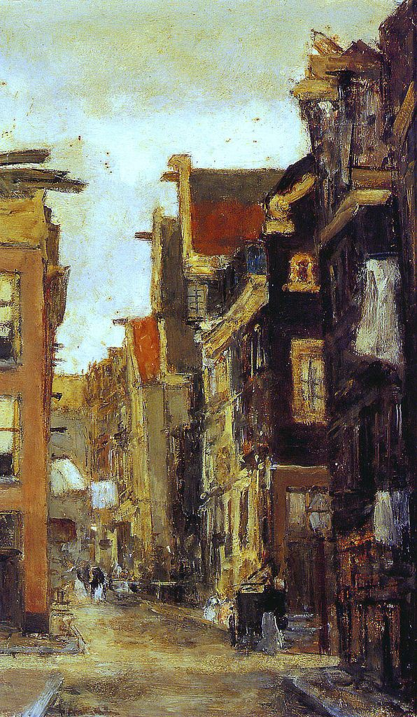 Spiegelstraat in Amsterdam by Floris Arntzenius (Dutch 1864-1925)