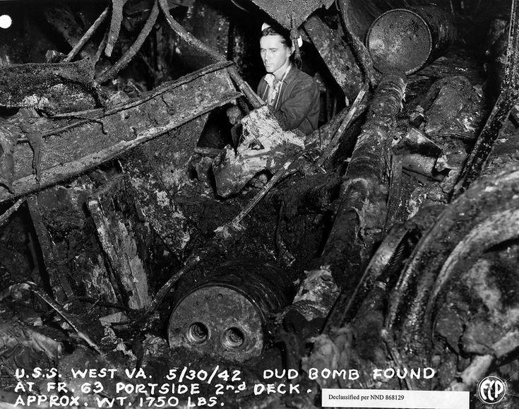 30 мая 1942 г., 2-я палуба линкора «Вест Виржиния ...