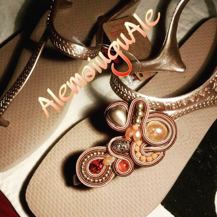 Voglia di mare #ciabattine #mare #soutache #handmade #bronzo #eleganza #spiaggia #estate #moda #accessori