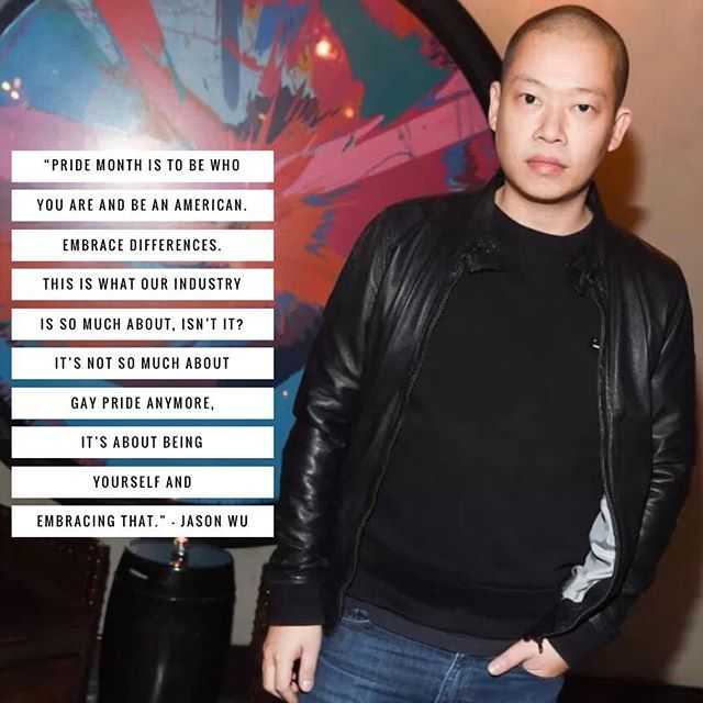 Jason Wu reflects on what pride means to him.  via WOMEN'S WEAR DAILY MAGAZINE OFFICIAL INSTAGRAM - Celebrity  Fashion  Haute Couture  Advertising  Culture  Beauty  Editorial Photography  Magazine Covers  Supermodels  Runway Models