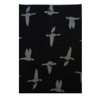 New Zealand Linen Tea Towel Black with Duck Print by Crown & Feathers http://www.silverfernz.com/4181-linen-tea-towel-black-with-duck-print-by-crown-&-feathers.htm
