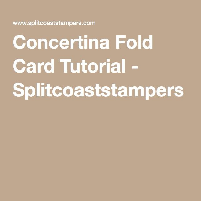 8 best concertina fold cards images on pinterest