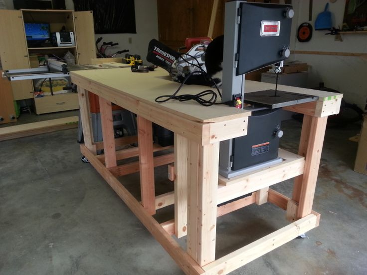 Work Bench - section lowers to accommodate tabletop tools