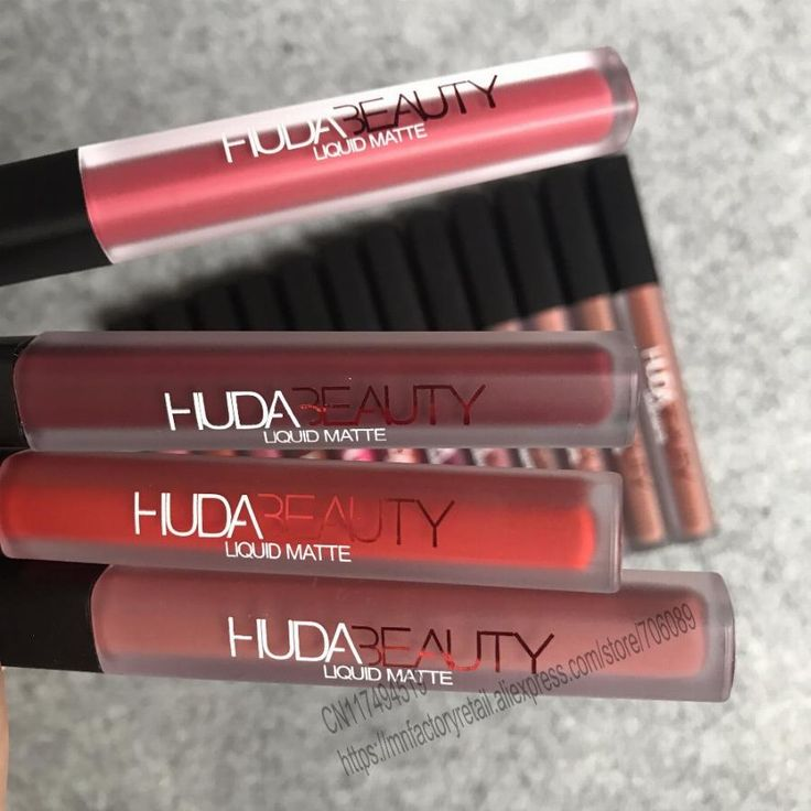 16pcs Huda Beauty Lipstick 16 Colors liquid lipstick Matte lip gloss lip tint set famous vixen trendsetter bombshell trophy wife