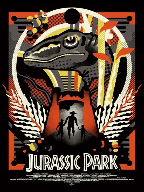 Jurassic Park alternative movie poster designed by We Buy Your Kids