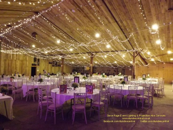 Fairy Light Canopy Installed At The Comrie Croft Barn In Perthshire By Steve Page