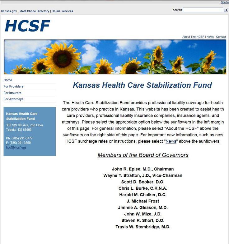 Health Care Stabilization Fund http//hcsf.kansas.gov