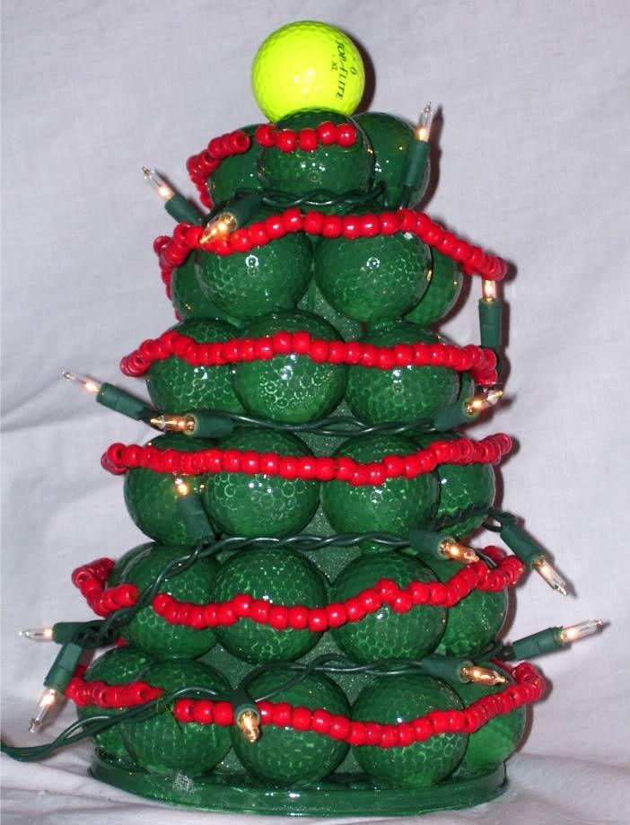 Golf Ball Christmas Tree Golf Ball Christmas Christmas Tree