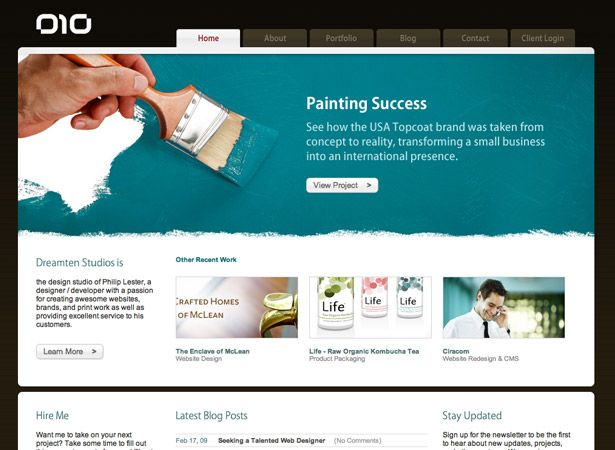 50 corporate website designs
