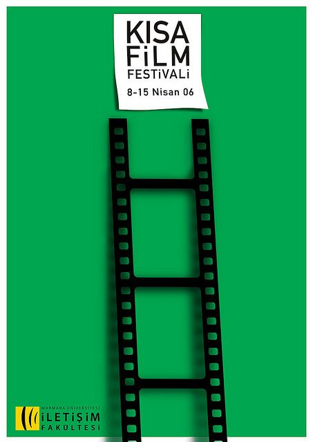 short film festival poster by kursat unsal, via Flickr