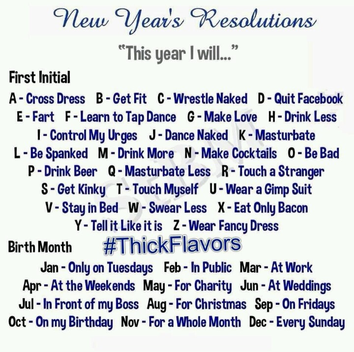 This Year I Will Cross Dress At Work New Year Resolutions Humour