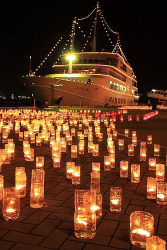Candle Night in Kobe-shi, Hyogo Prefecture, Japan