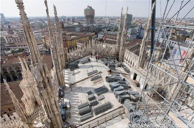 Cave E Cantieri - Dove si trova il Cantiere del Duomo? presso la Cattedrale stessa. #duomodimilano #milancathedral