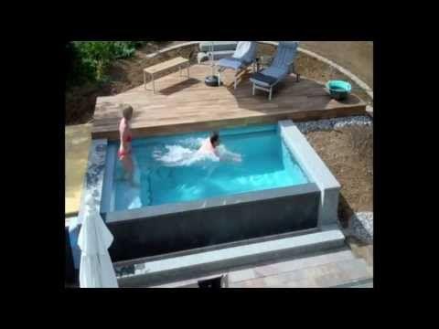 Schwimmbadbau - Dokumentation eines Pool im Garten - im Zeitraffer - YouTube