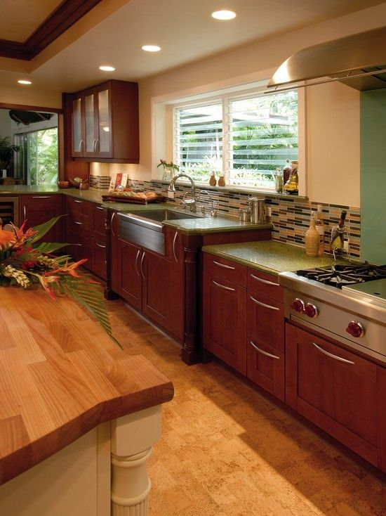 17 best images about tropical kitchens on pinterest for Tropical kitchen designs
