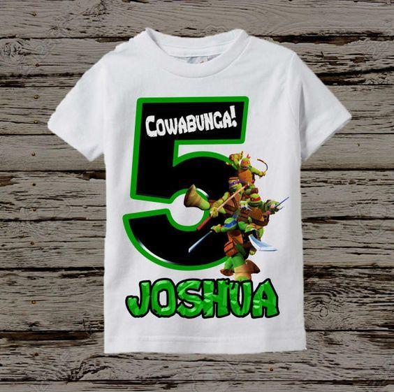 Ninja tortugas cumpleaños camisa TMNT por BellaFashionDesignz